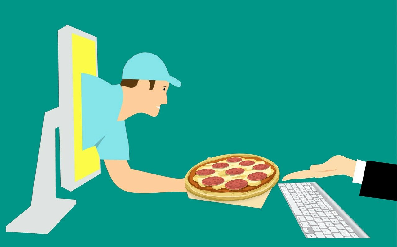 pizza, courier, online
